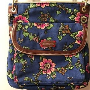 Sakroots floral crossbody purse